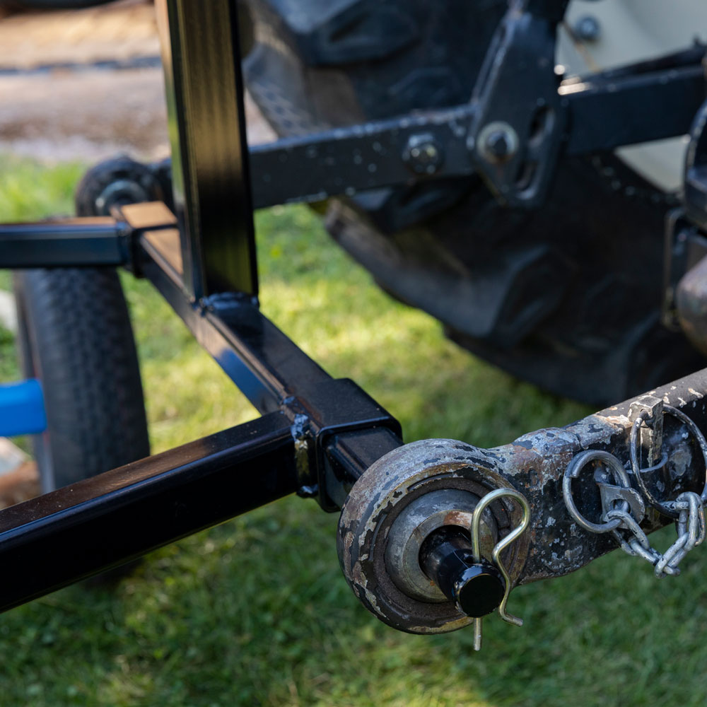 PW Vedmaskin för traktordrift inzoomning på kopplingen